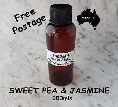 """Top Quality """"sweet Pea & Jasmine"""" Fragrance Oil - 100Mls - Candles, Melts"""