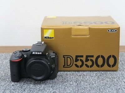 Perfect Nikon D5500 24.2Mp Touchscreen Dslr Black Refurbished, Looks Brand New