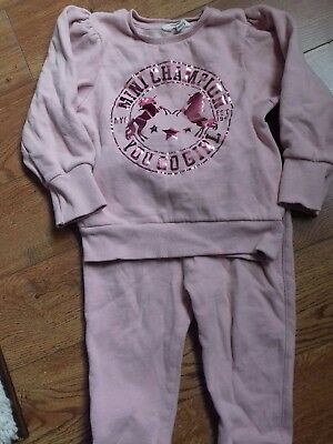 River Island Mini Baby Girls Jogging Suit 18 - 24 months