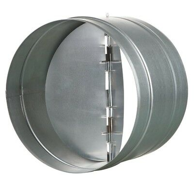"""VENTS US 10"""" Inch Galvanized Back Draft Damper w/ Rubber Seal Round Horizontal"""