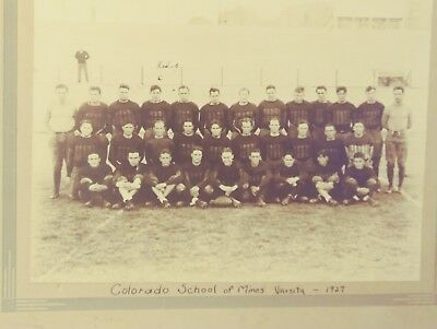 Vintage 1927 Colorado School Of Mines - Varsity Football Team Mining Photo