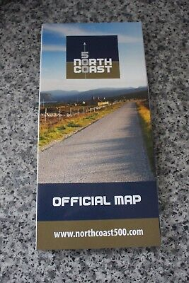 Official map North Coast Route 500 Scotland road atlas