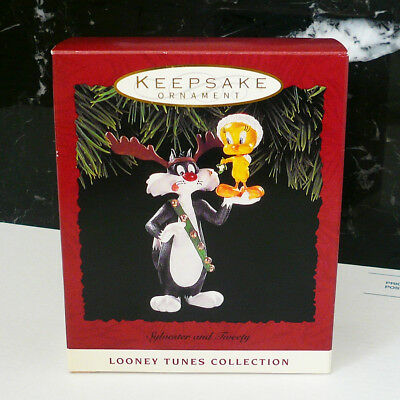 Hallmark Sylvester and Tweety 1993 Christmas Ornament Looney Tunes MIB