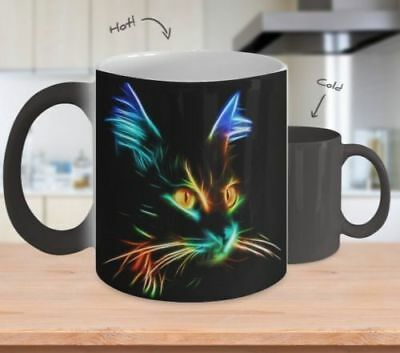Colorful Cat - Best Color Changing Mug For Cat Lovers - 11oz Coffee Mug