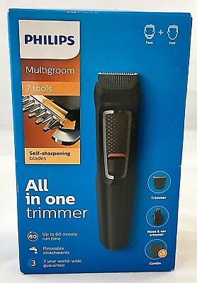 Philips Multigroom Series 3000 7-in-1, Face and Hair Trimmer MG372013