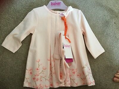 Baby Girl Tedbaker Outfit 0-3 Months With Matching Headband