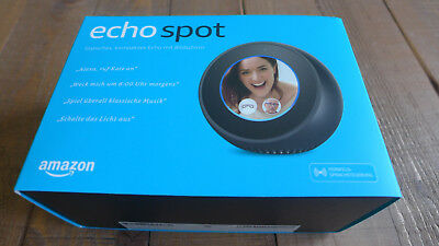 Amazon Echo Spot - sprachgesteuerter Smart Assistent, Schwarz, NEU & OVP