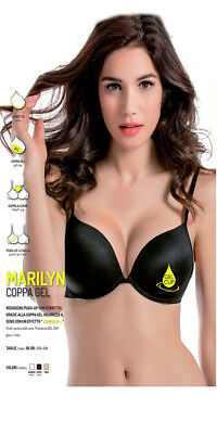 Reggiseno Push-up Coppa Gel Marilyn Love And Bra Colori Nero Bianco o Beige