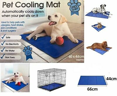 Medium Pet Dog Cat Cool Mat Self Cooling Gel Mat Bed Heat Relief Non-Toxic 60x44