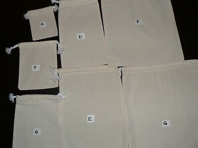 Calico Drawstring Bags Bulk Lot (5, 10 15, 20,30, 40 ,50, 100,150,200 )