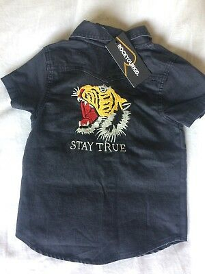 Boys ROCK YOUR KID Embroidered 'Stay True' Short. Size 3. New With Tags