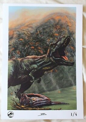 IMAX Jurassic World Fallen Kingdom Official Print Poster 3/4 Limited edition