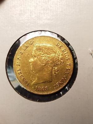 1868 Philippines Gold 4 Peso