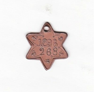 s'HERTOGENBOSCH (HOLLAND) 1896, dog license, tax, tag
