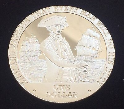 2007 Captain Horatio Nelson,Cook Islands .925 Silver Proof $1 Coin W/ COA 28.28g