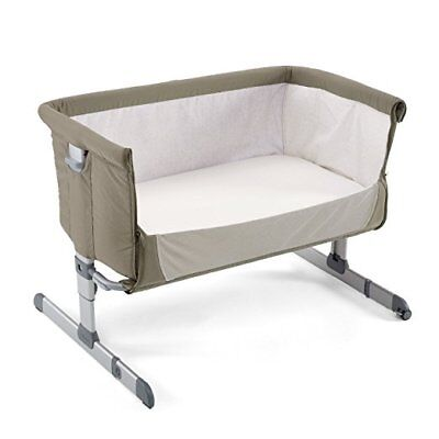 "Chicco *2016* Side Sleeping Crib Next2Me ""Dove Grey"" Baby Crib Next 2 Me"