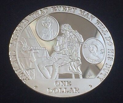 2007 Nelson,Emma & Horatia, Cook Islands, .925 Silver Proof $1 Coin, COA 28.28g
