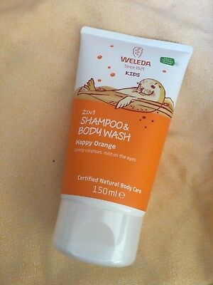Weleda Kids 2 In 1 Shampoo & Bodywash In Happy Orange 150ml