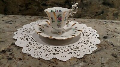 1 Vintage Unmarked China Demitasse/tea Cup & Saucer Made In  Occupied Japan
