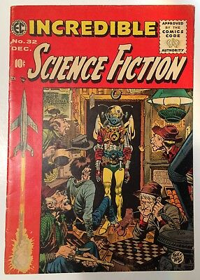 Incredible Science Fiction #32 Nov. 1955 Comic Code Approved :-(