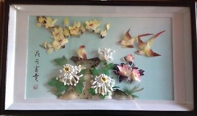 Chinese Mother of pearl and shell 3D Picture - PRIVATE SALE