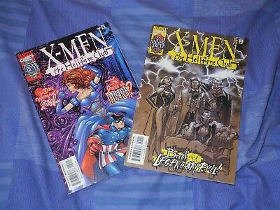 X men the Hellfire club comics 2000 number 1 and 2 marvel direct edition