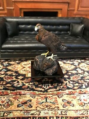 Dollhouse Miniature Artisan Signed Frank Balestrieri Hand Carved Eagle (R)