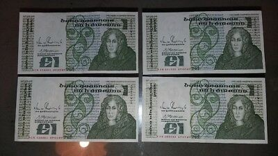 2 Pairs Of B Series £1 Consecutive And Uncirculated 1989 See Scans