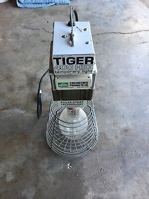 New EPCO TIGER 400 HID Temp Work Light w/ Pulse Start ~ 400W Safety Cage