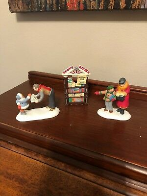 """Dept 56., Christmas in the City, """"A Treasured Book""""- 58963,  3pc set."""
