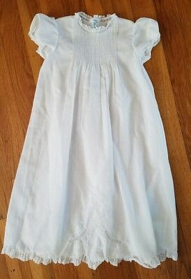 Vintage Feltman Brothers Newborn White Batiste Embroidered Christening Gown