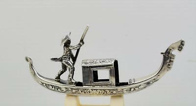 antique Hanau miniature sterling silver Gondola B.H.M  London 1913 B Neresheimer