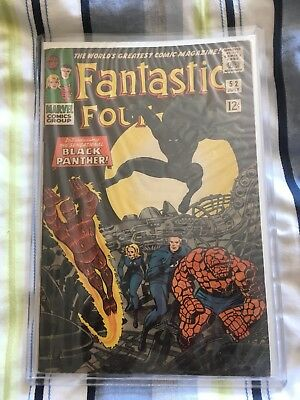 Fantastic Four #52. VG 5.0. First Black Panther!! Silver Age Marvel NO RESERVE