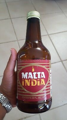 Puerto Rico Vintage Malta India 32 ounces Big Bottle Rare Hard to Find!!