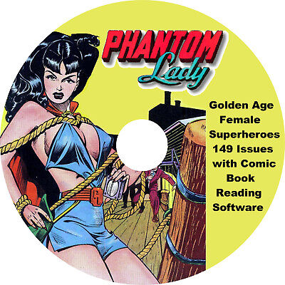 Golden Age Female Superhero Comic Books on DVD-Rom 149 Issues & Reading Software