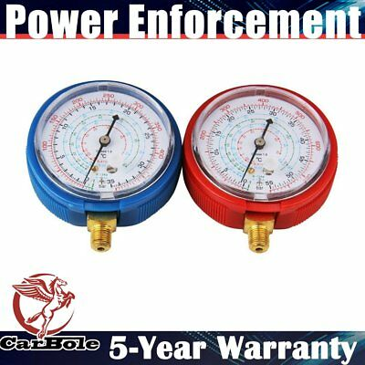 2pcs High/Low Accurate Refrigerant Pressure Gauge PSI KPA for R410A R134A R22 US