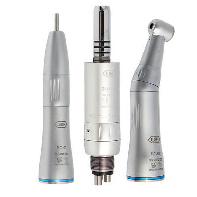W&H Dental Low Speed Handpiece Inner Straight Contra Angle Air Motor 2/4Holes