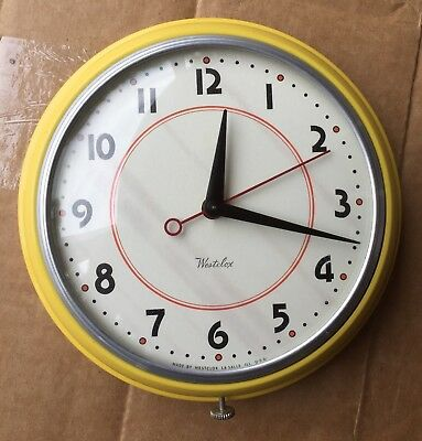 Westclox Orb Kitchen Clock - Yellow - Line New or NOS