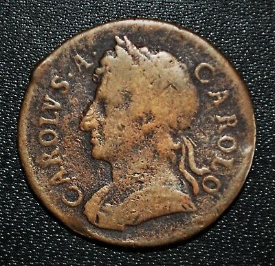 1674 Great Britain - Farthing, Charles II