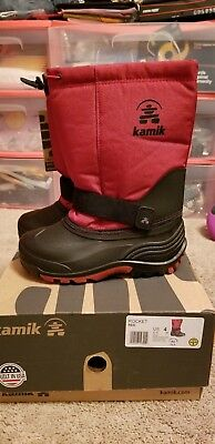 Kamik Kids Rocket Cold Weather Boot Red size 4 NIB