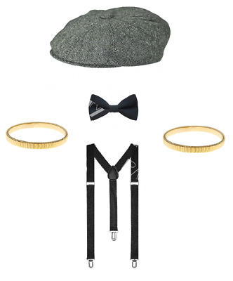 DELUXE Peaky Blinders 20's Tommy Shelby Fancy Dress Stag Night Costume Lot