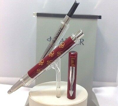 Parker Vector Rollerball Pen SWT Refillable Maroon With Chrome Made In USA NOS
