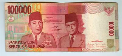 3 Different Type Indonesia 2009, 2013 And 2014 100,000 Rupiah Circulated