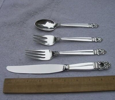 International ROYAL DANISH (1939) 4 Piece LUNCHEON SIZE PLACE SETTING-NR