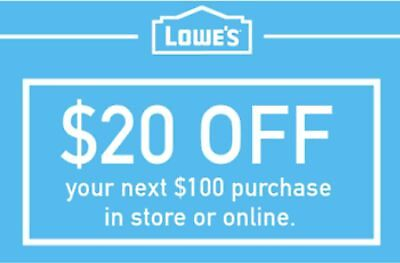 1x $30 off $50 Lowes Printable Instant-1Coupons In-Store Exp 8-31