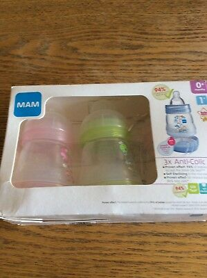 Mam anti colic small bottle set of three new born