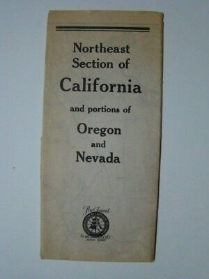 Northeast California Portions OR & NV Automobile Club of Southern CA Map 1940's