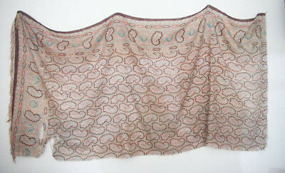 Antique Shawl Paisley pattern Fabric Remnant 19th Century (512)