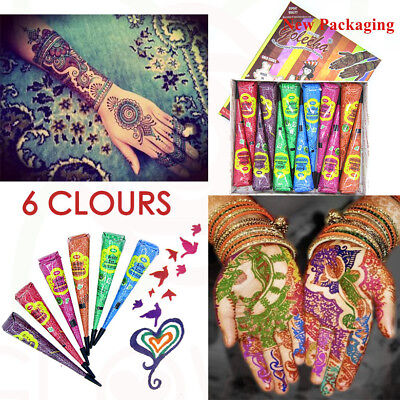 Golecha Multi-Colour Henna Paste Indian Imported Mehandi Paste Temporary Tattoo