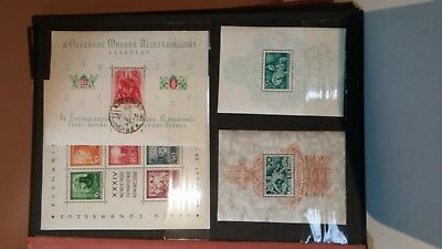 Hungary stamps MNH miniature sheets in stockbook 1938-71 #135